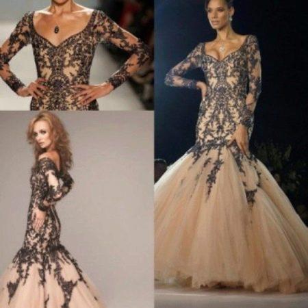 Бальное платье в стиле русалки