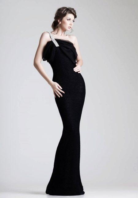 Черное вечернее не дорогое платье