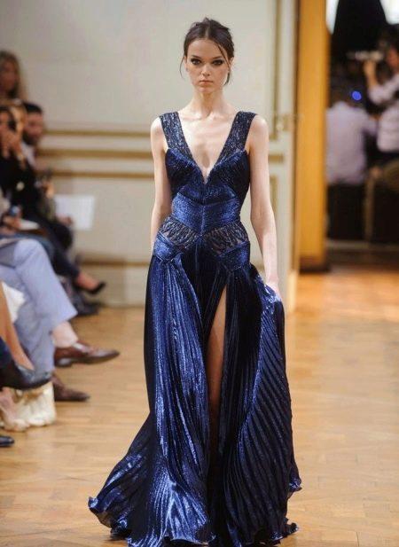 Вечернее синее платье от Зухаира Мурада