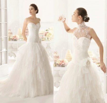 Свадебное платье с корсетом занищенным
