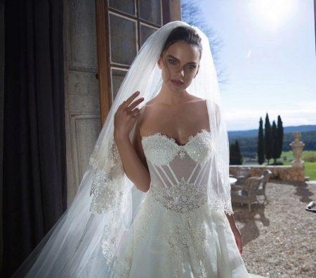 Прозрачный свадебный корсет для свадебного платья