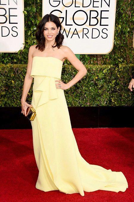 Желтое вечернее платье Дженны Татум