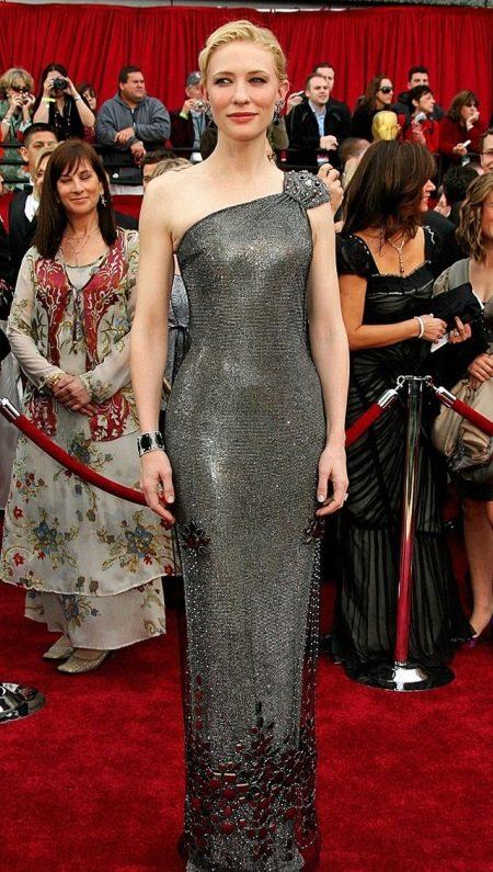 Вечернее платье Кейт Бланшет, расшитое камнями Сваровски
