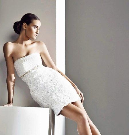 Свадебное платье короткое из коллекции Дивина