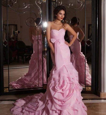 Свадебное платье из коллекции Crystal Design 2015 розовое