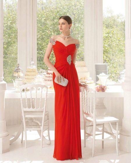 Красное платье в греческом стиле от Aire Barcelona
