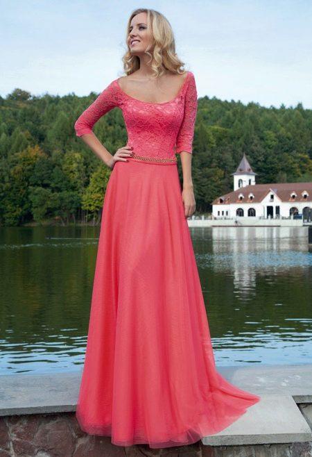 Вечернее платье от Оксаны мухи с кружевным корсетом
