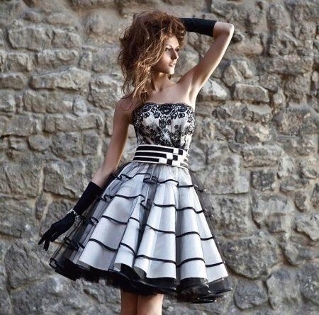 Вечернее короткое платье от Оксаны мухи