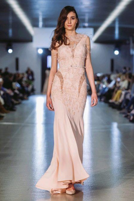 Вечернее платье от Оксаны Мухи с прозрачными вставками