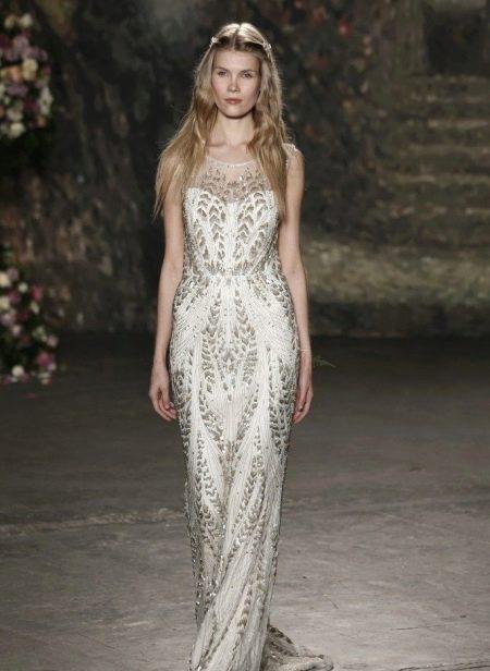 Свадебное платье расшитое пайетками от Джени Пэкхем