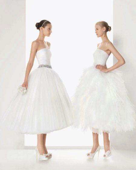 Свадебное платье от Роза Клара 2013 миди