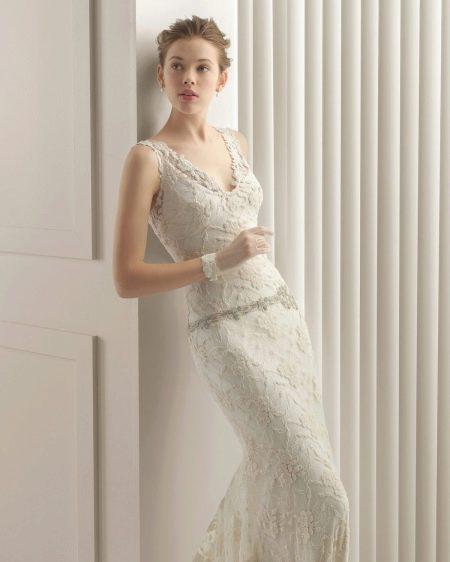 Кружевное свадебное платье от Роза Клары 2015