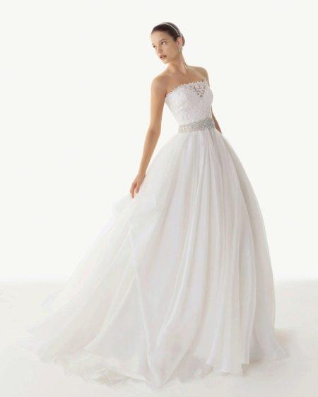 Свадебное платье от Роза Клара 2013 с кружевным корсетом