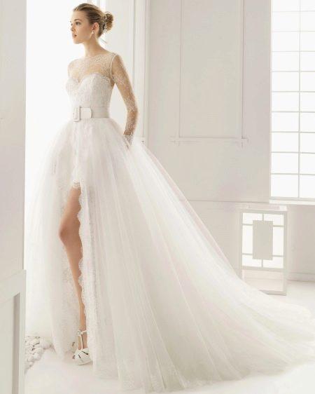 Свадебное платье 2016 с разрезом