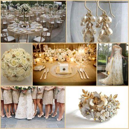 Аксессуары к свадебному платью цвета айвори