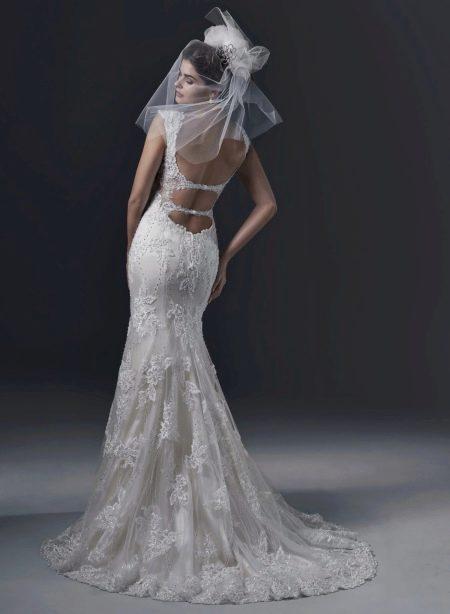 Свадебное платье русалка с открытой спиной 2016 от Магги Сотеро
