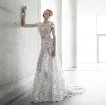Свадебный прозрачный наряд