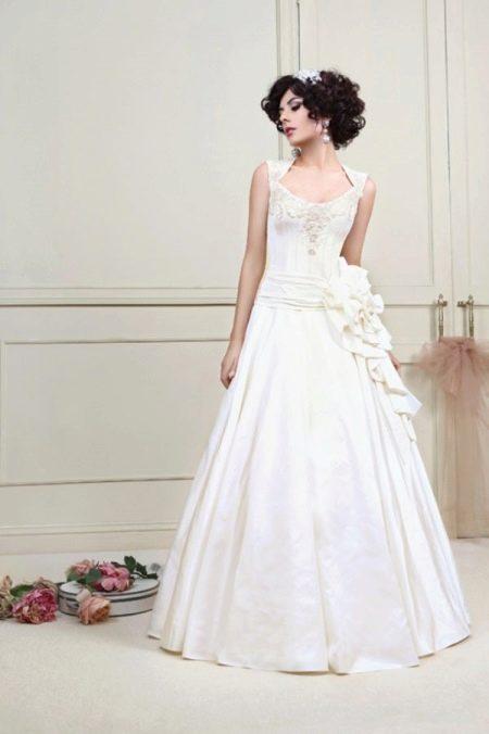 Свадебное платье русалка из коллекции Цветочная феерия а-силуэта