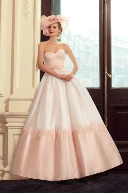 Свадебное платье розовое из коллекции Jazz Sounds Татьяны Каплун