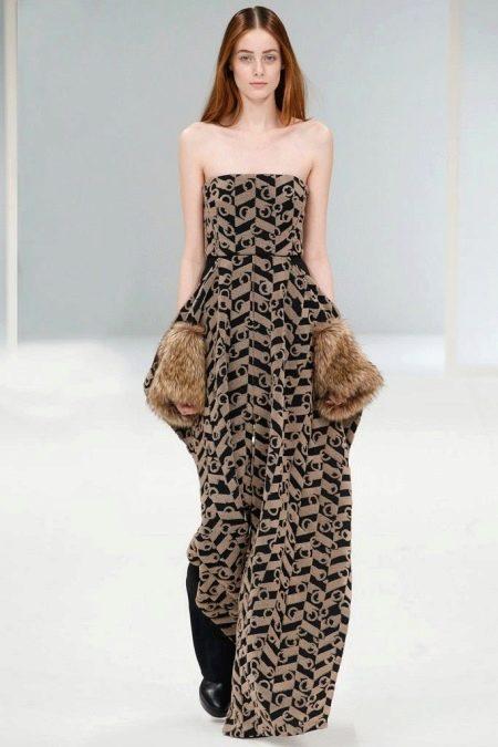 Вечернее платье с мехом