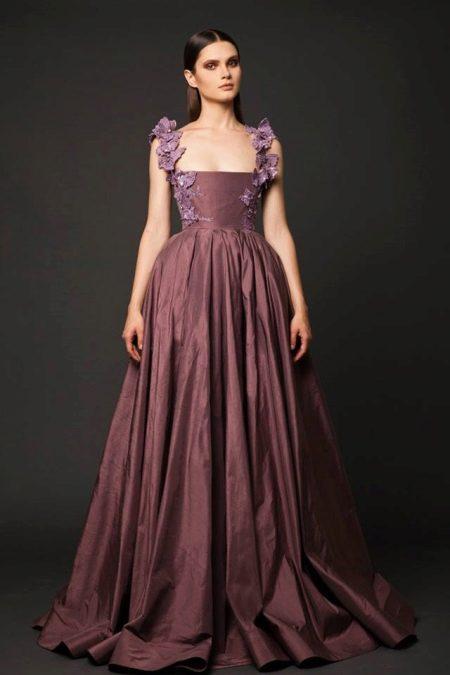 Вечернее платье  винного цвета