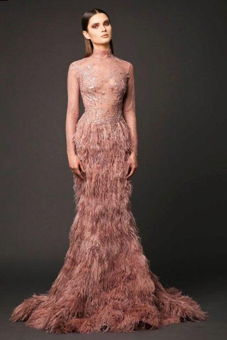 Вечернее платье русалка 2016