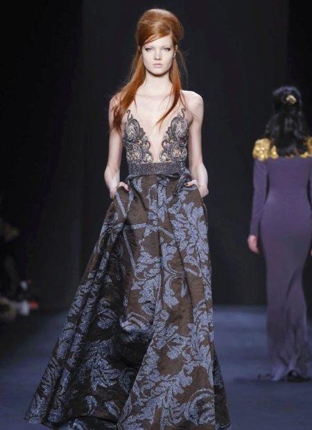 Вечернее платье с принтом от Badgley Mischka