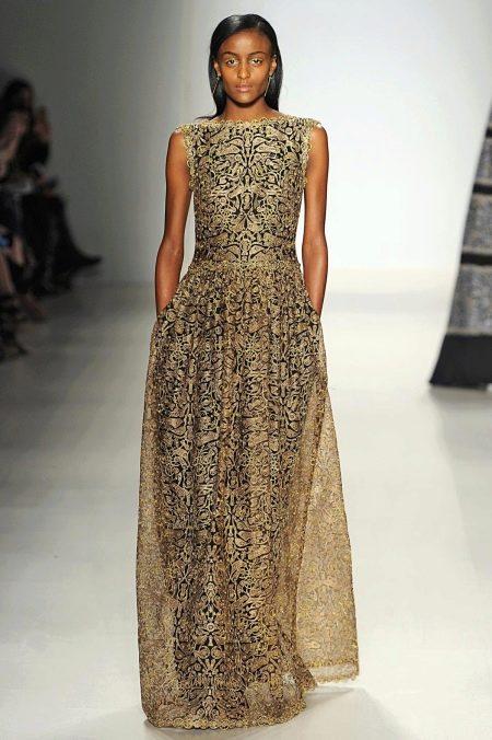 Узорчатое вечернее платье для женщин 40 лет