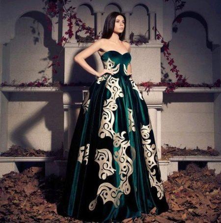 Бархатное платье на выпускной 2016