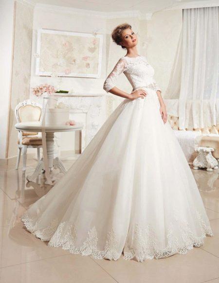 Свадебное платье пышное с рукавами