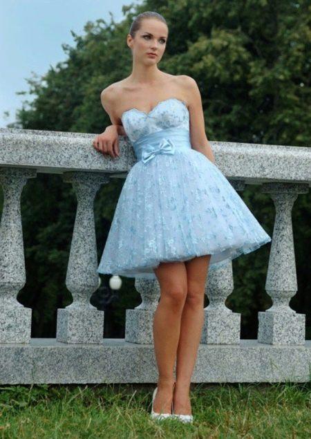 Обувь к голубому платью свадебному