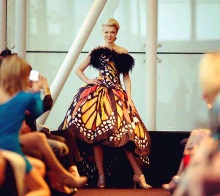 Вечернее платье бабочка