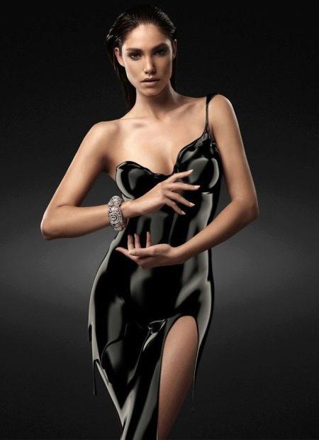 Вечернее платье черное необычное