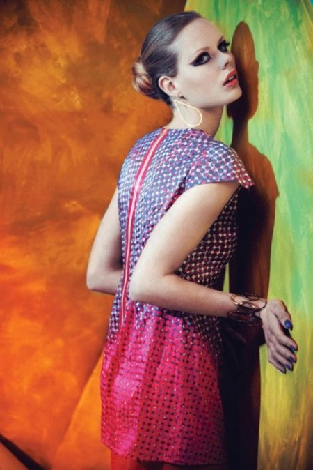 Вечернее платье бренда Rainbow Winters меняющее цвет