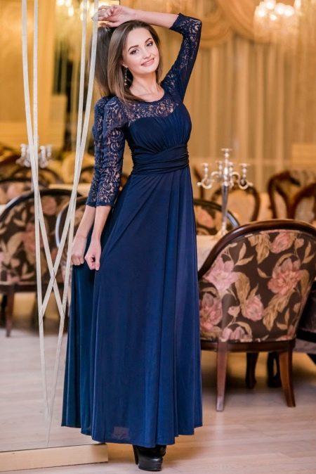 Вечернее платье 50 размера с кружевом