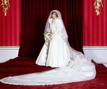 Свадебное платье дорогое принцессы Дианы