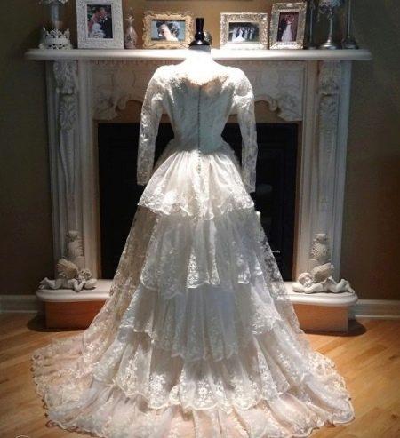Платье кружевное старинное