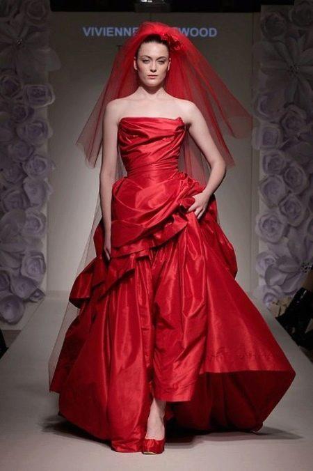 Обувь к красному свадебному платью