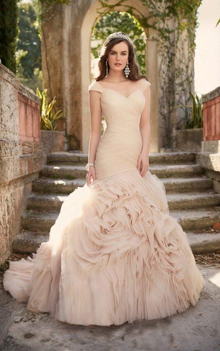 Свадебное платье русалка со шлейом