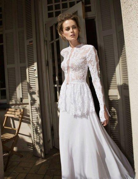 Свадебное платье в стиле пейзан