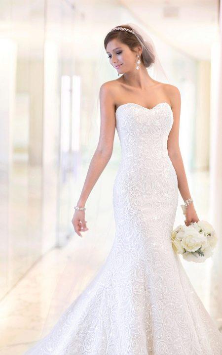 Элегантное свадебное платье рыбка