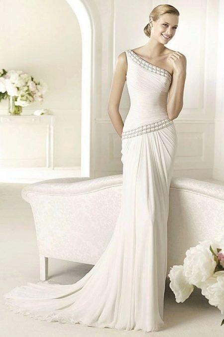 Греческое элегантное свадебное платье