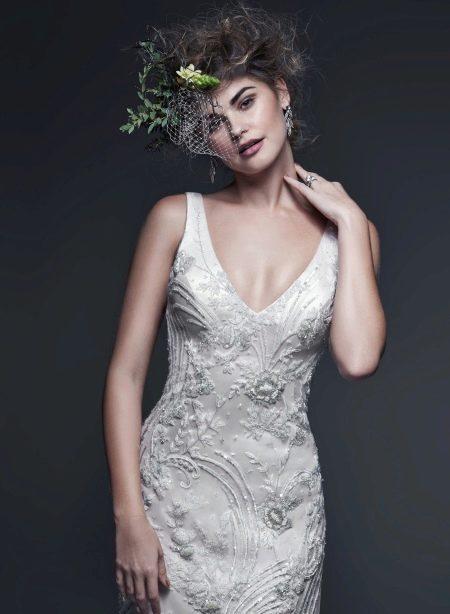 Свадебное платье расшитое кристаллами Сваровски
