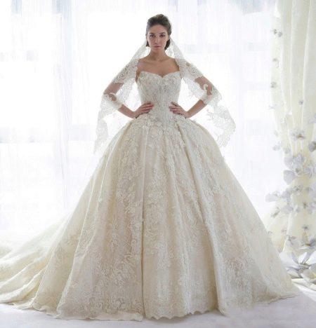 Самое красивое свадебное платье пышное