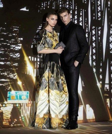 Вечернее платье в пол на Новый год