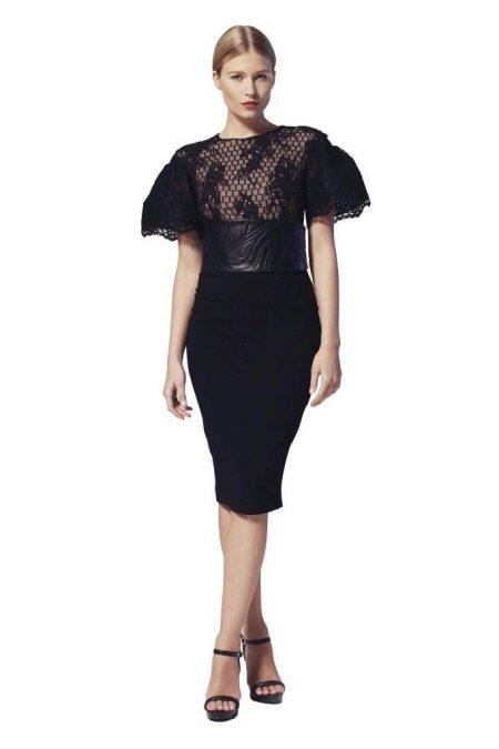 Вечернее платье  для Нового года с рукавами буфами