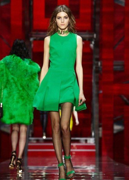 Зеленое коктейльное платье для клубной вечеринки
