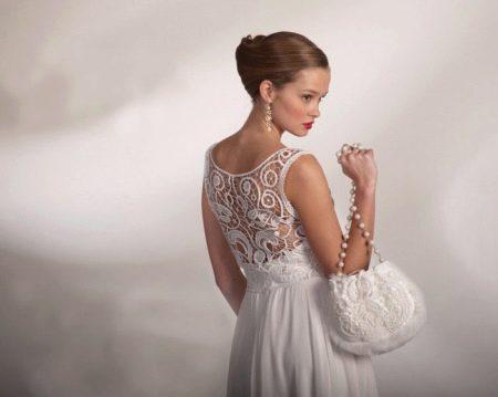 Свадебное платье вязанное из румынского кружева