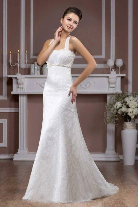 Свадебное платье на бретелях от Хадасса