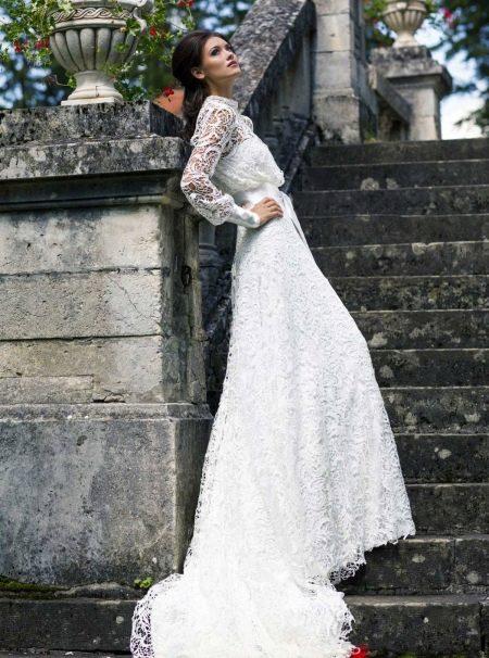 Свадебное кружевное платье от Хадассы